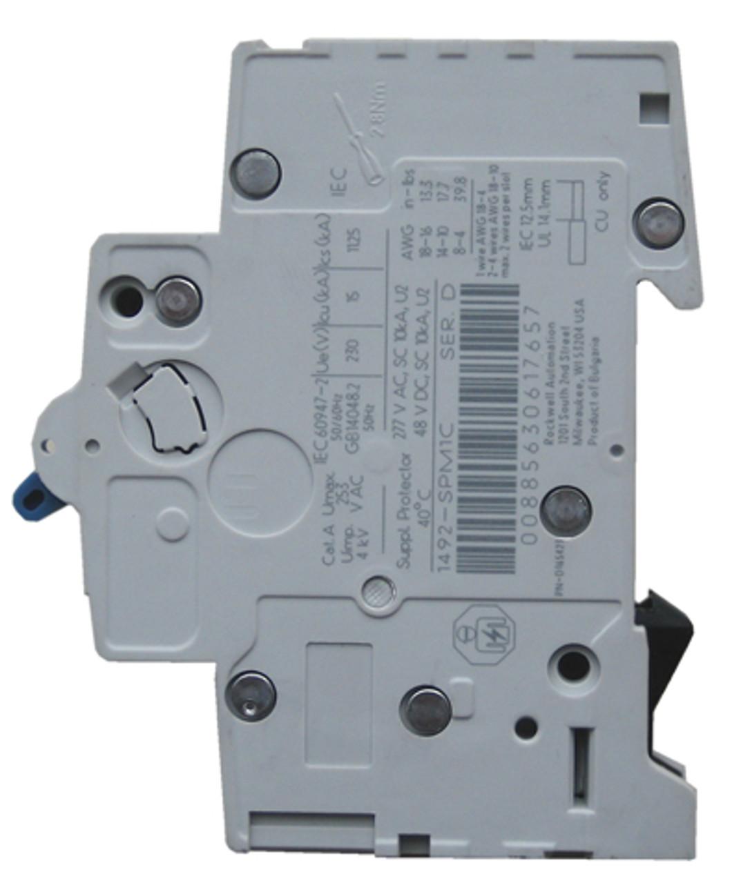 2 Pole Miniature Circuit Breaker  20 A A-B 1492-SPM2D200 LOT of 2 Ea TWO