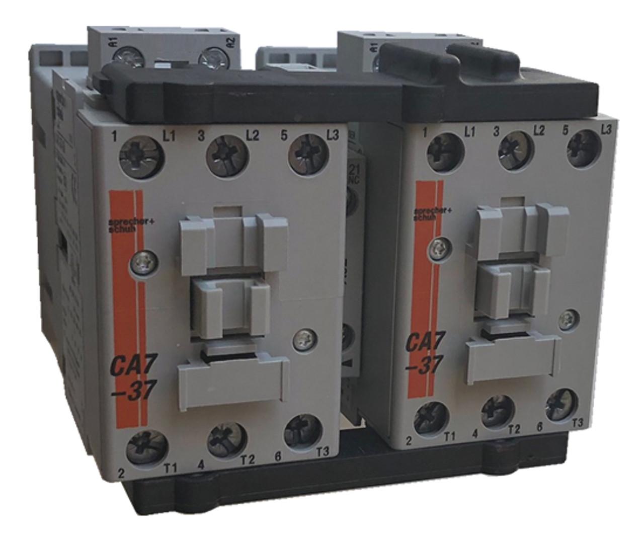 Sprecher + Schuh CAU7-37-02-24 reversing contactor