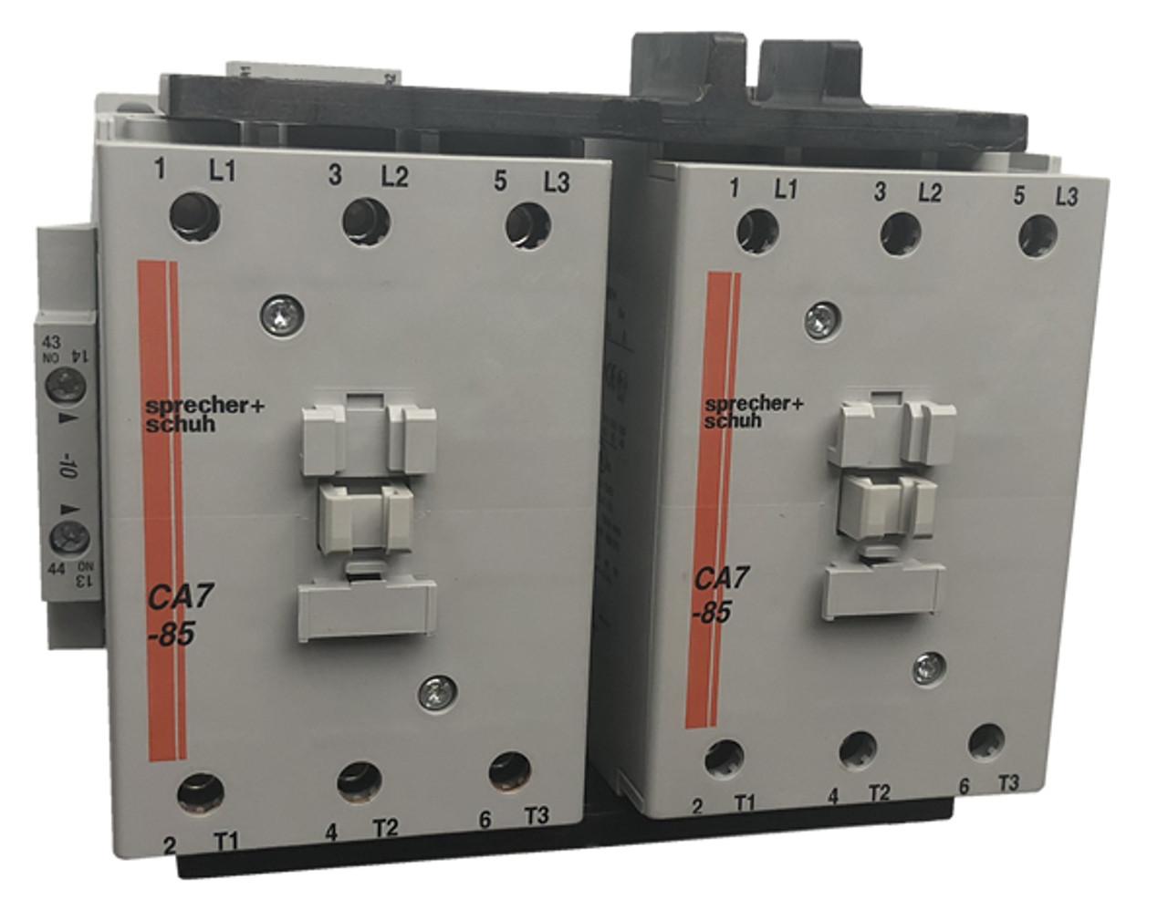 Sprecher + Schuh CAU7-85-22-24Z reversing contactor