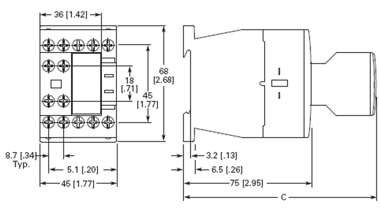 Eaton XTCE009B10P dimensions