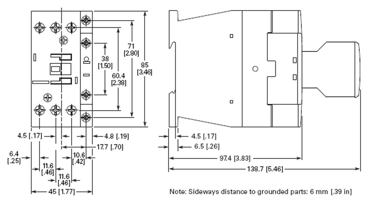 Eaton XTCE018C01P dimensions