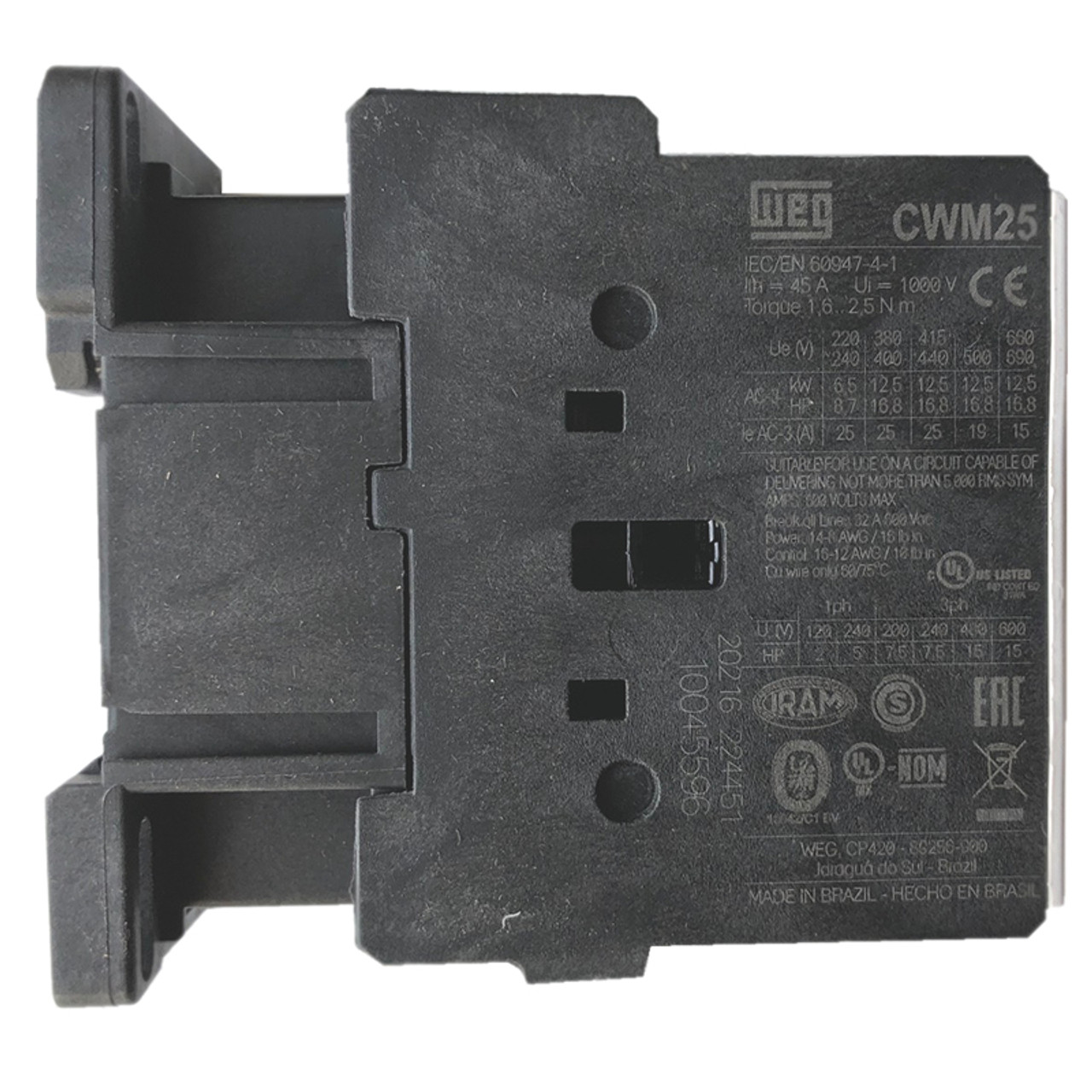 WEG CWM25-00-30V24 side label