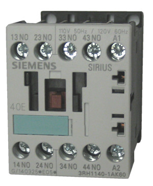 Siemens 3RH1140-1AK60 4 pole control relay