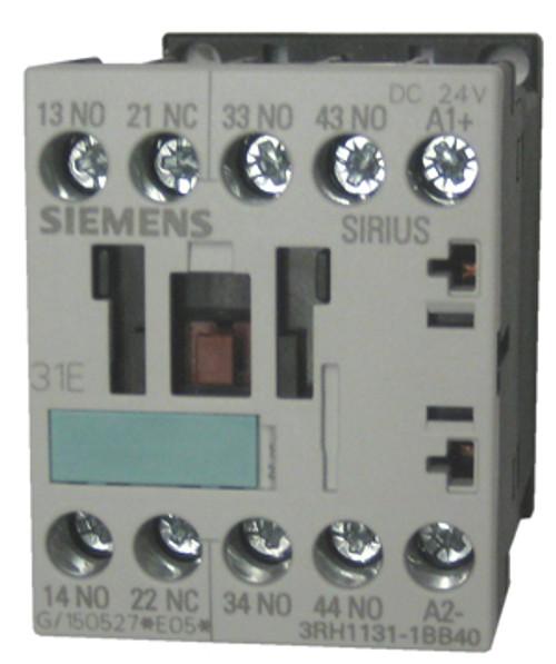 Siemens 3RH1131-1BB40 4 pole relay