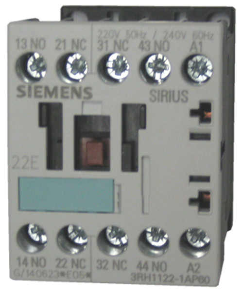 Siemens 3H1122-1AP60 4 pole control relay