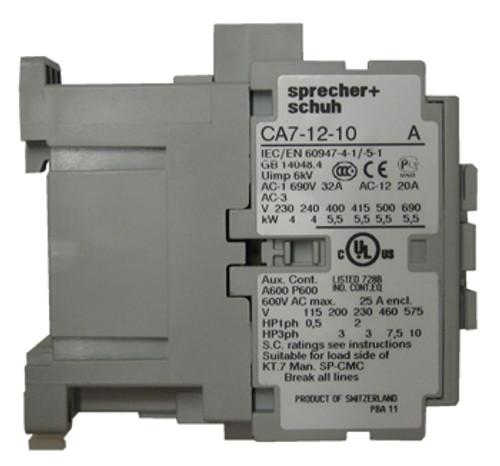 CA7-12-10 120 volt AC contactor side view