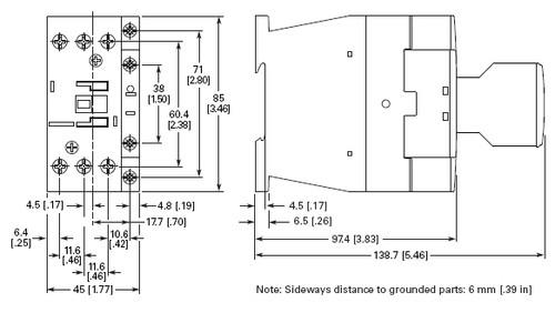 Eaton XTCE018C10B dimensions