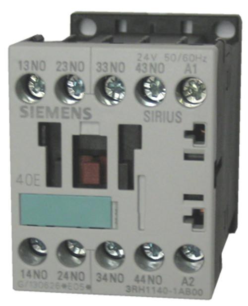 Siemens 3RH1140-1AB00 4 pole control relay