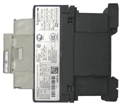Schneider Electric LC1D09G7 side label