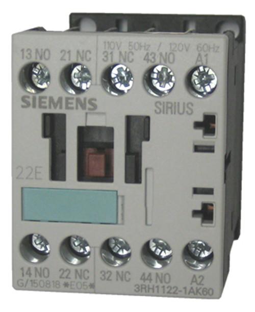 Siemens 3H1122-1AK60 4 pole control relay