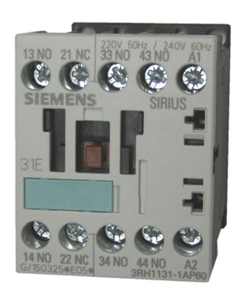 Siemens 3RH1131-1AP60 4 pole control relay