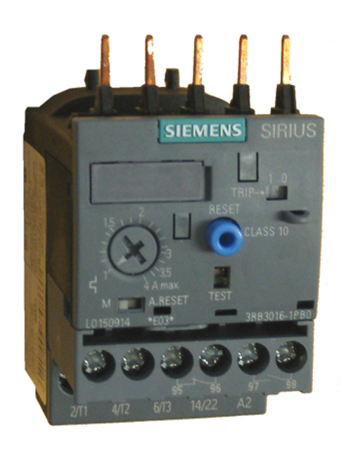 Siemens 3RB3016-1PB0 solid state overload relay