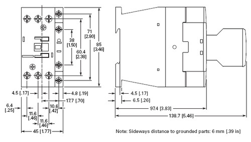 Eaton XTCE018C10T dimensions