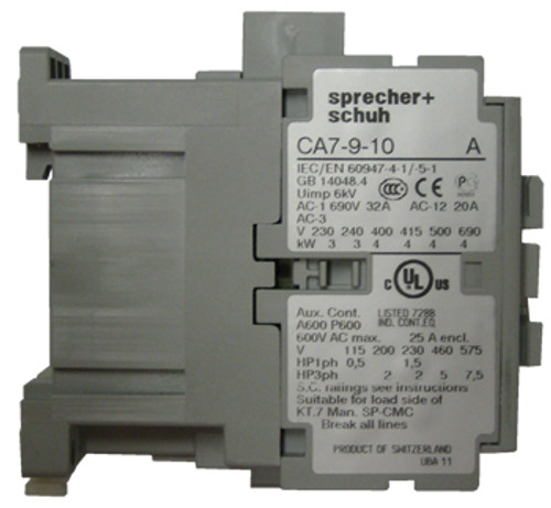 Sprecher and Schuh CA7-9-10-220W side view