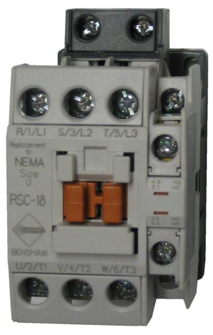 Benshaw RSC-18-6AC208 contactor
