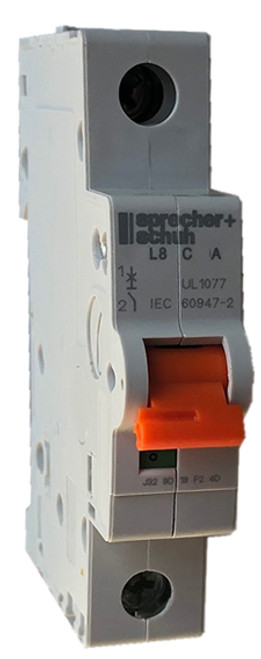 Sprecher and Schuh L8-8/1/C miniature circuit breaker