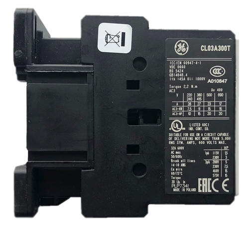 GE CL03A300T1 side label