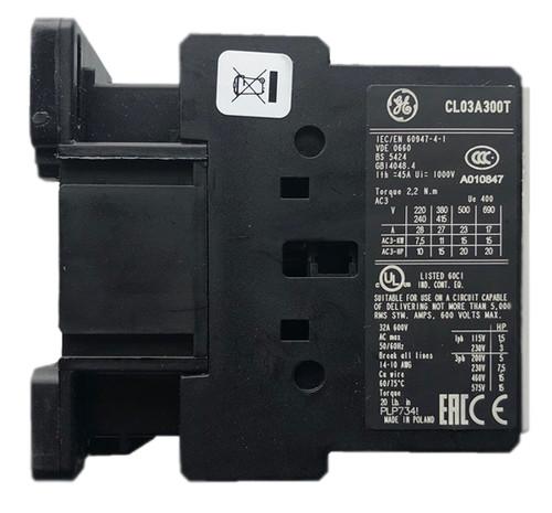 GE CL03A300TJ side label