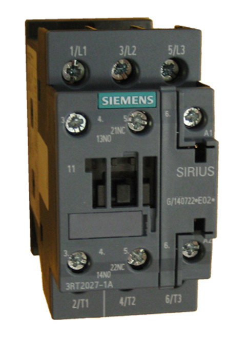Siemens 3RT2027-1AM20 3 pole contactor