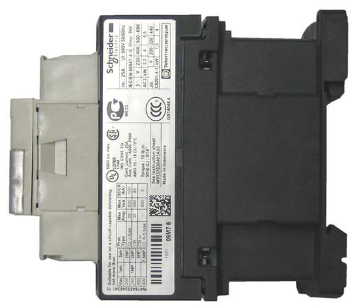 Schneider Electric LC1D09E7 side label
