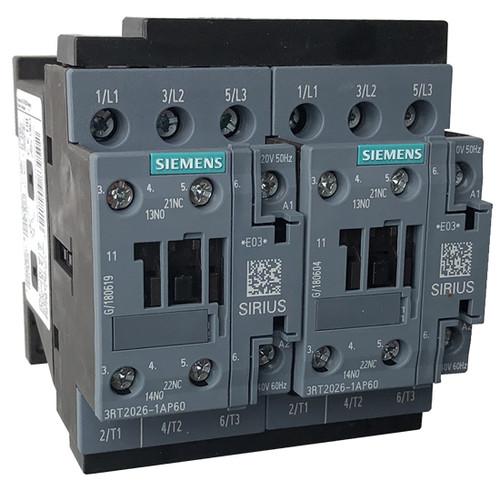 Siemens 3RA2326-8XB30-1AM2 reversing contactor