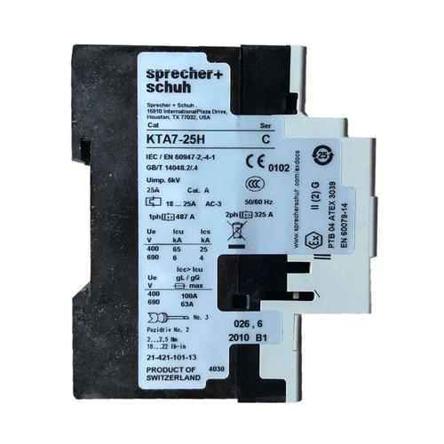 Sprecher and Schuh KTA7-25H-32A side label