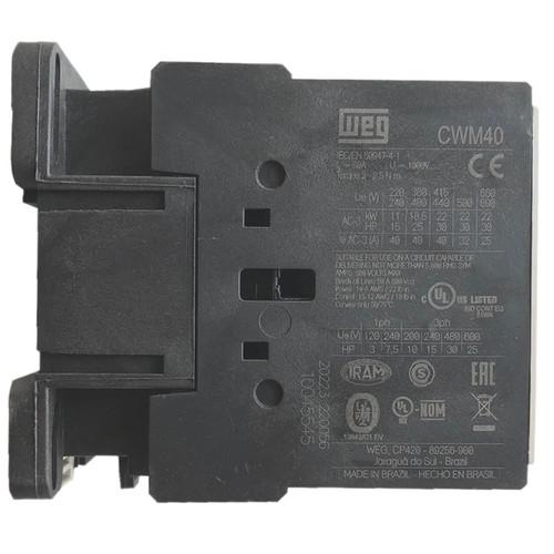 WEG CWM40 side label