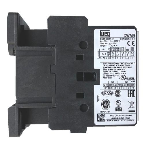WEG CWM9-10-30V47 side label