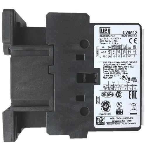 WEG CWM12-10-30V24 side label