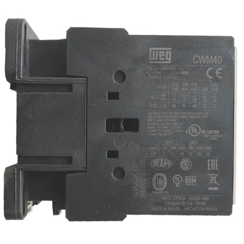 WEG CWM40-10-30V56 side label