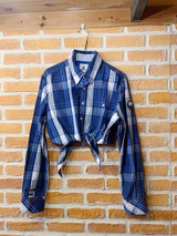 KNOTTED PLAID SHIRT