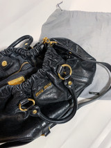 VINTAGE MIU MIU VITELLO LUX BLACK BAG