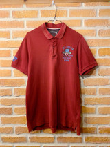 TOMMY HILFIGER BURGUNDY POLO