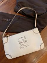 CAROLINA HERRERA WHITE MINI SHOULDER BAG