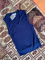 LACOSTE NAVY KNITTED VEST