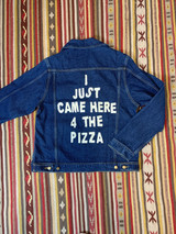 CAME FOR THE PIZZA DENIM JACKET
