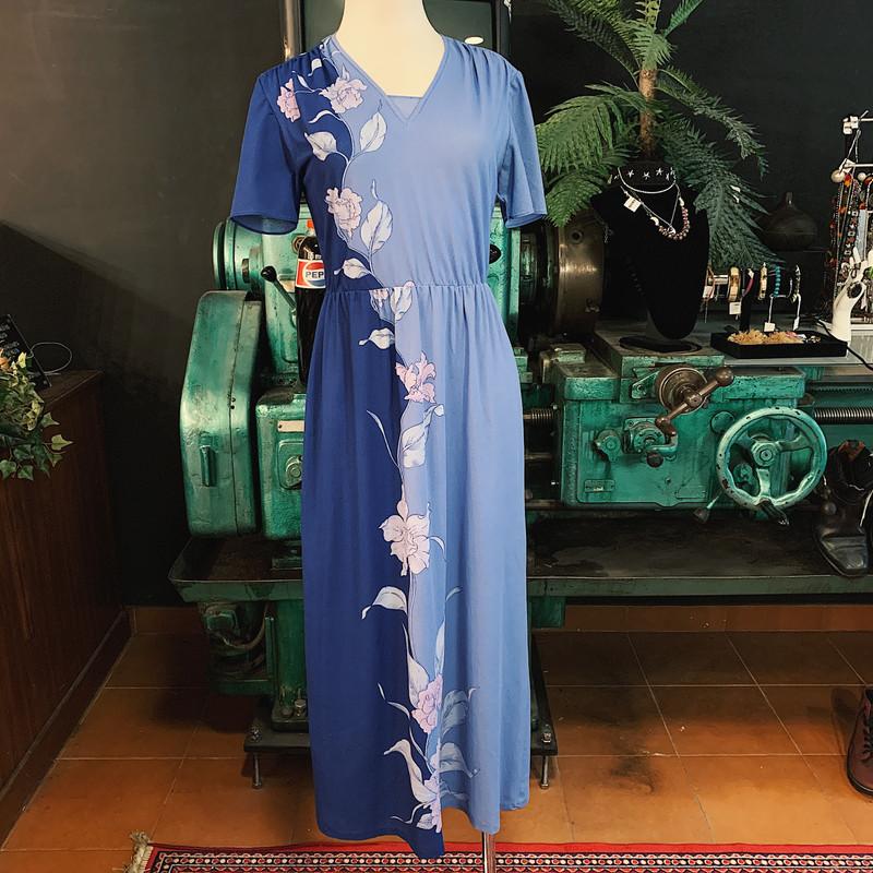 BLUE FLOWERS LONG DRESS
