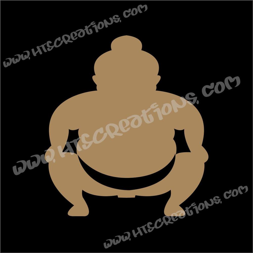 Sumo Wrestler Japanese Vinyl Decal BEIGE