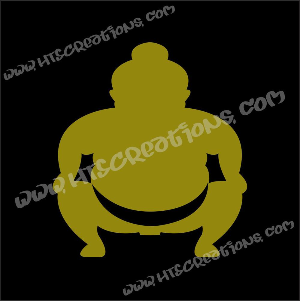Sumo Wrestler Japanese Vinyl Decal GOLD