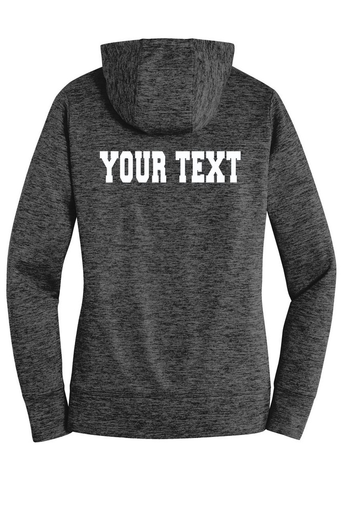 Urbana Hawks FIELD HOCKEY Hoodie Performance PosiCharge Electric Heather Fleece Pullover Sweatshirt Many Colors Available LADIES Sizes XS-4XL  GREY/BLACK ELECTRIC BACK PERSONALIZED
