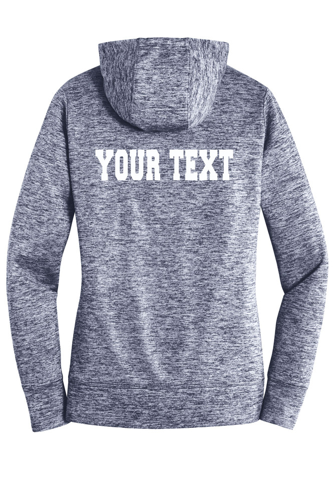 Urbana Hawks FIELD HOCKEY Hoodie Performance PosiCharge Electric Heather Fleece Pullover Sweatshirt Many Colors Available LADIES Sizes XS-4XL TRUE NAVY ELECTRIC BACK PERSONALIZED