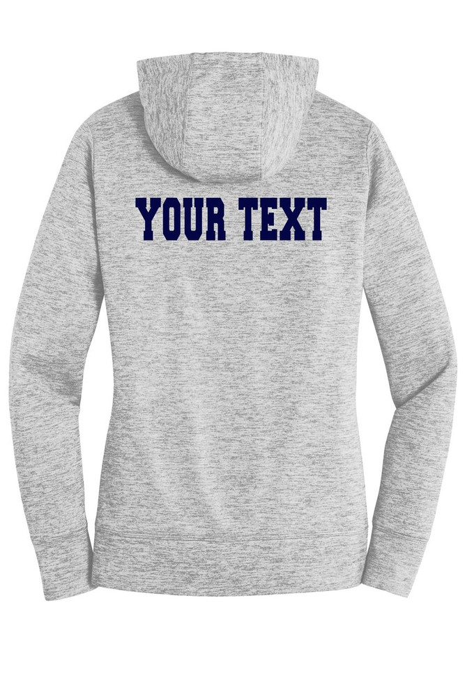 Urbana Hawks FIELD HOCKEY Hoodie Performance PosiCharge Electric Heather Fleece Pullover Sweatshirt Many Colors Available LADIES Sizes XS-4XL  SILVER ELECTRIC BACK PERSONALIZED