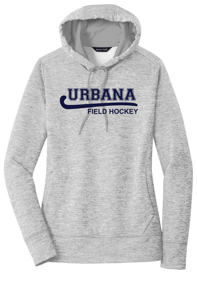 Urbana Hawks FIELD HOCKEY Hoodie Performance PosiCharge Electric Heather Fleece Pullover Sweatshirt Many Colors Available LADIES Sizes XS-4XL  SILVER ELECTRIC