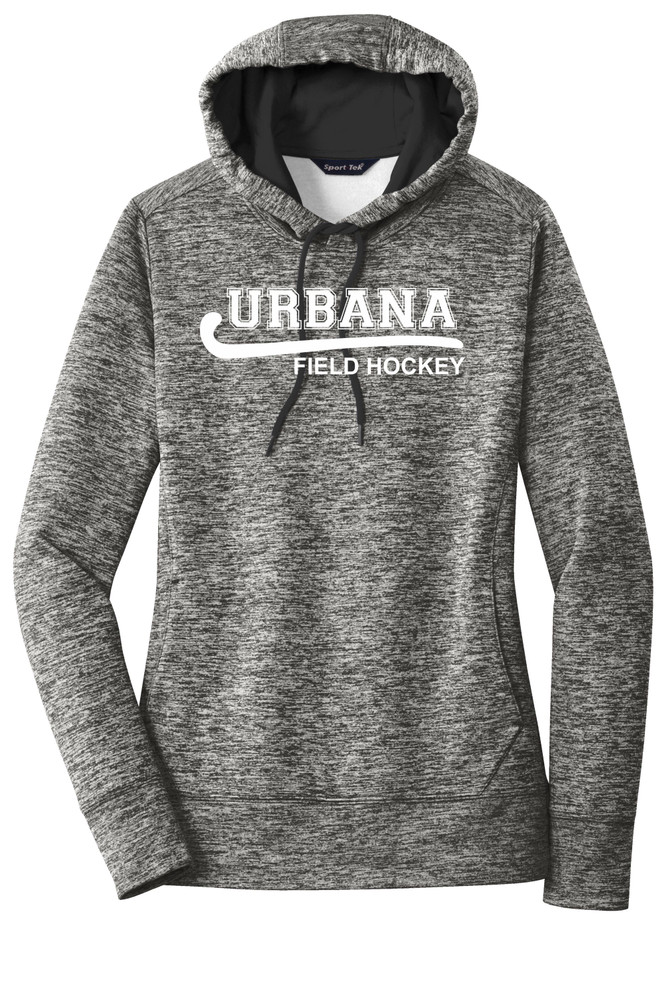 Urbana Hawks FIELD HOCKEY Hoodie Performance PosiCharge Electric Heather Fleece Pullover Sweatshirt Many Colors Available LADIES Sizes XS-4XL  BLACK ELECTRIC