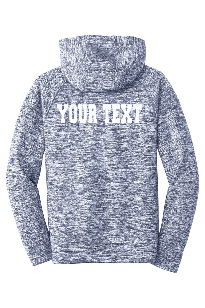 Urbana Hawks FIELD HOCKEY Hoodie Performance PosiCharge Electric Heather Fleece Pullover Sweatshirt Many Colors Available YOUTH Sizes S-XL  RUE NAVY ELECTRIC MODEL