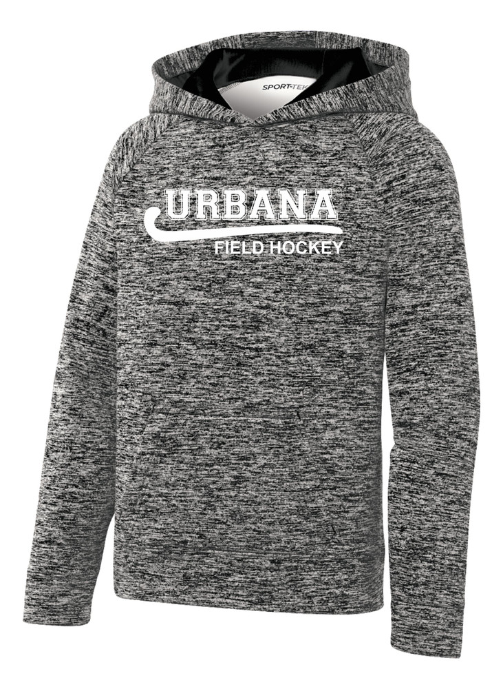 Urbana Hawks FIELD HOCKEY Hoodie Performance PosiCharge Electric Heather Fleece Pullover Sweatshirt Many Colors Available YOUTH Sizes S-XL BLACK ELECTRIC
