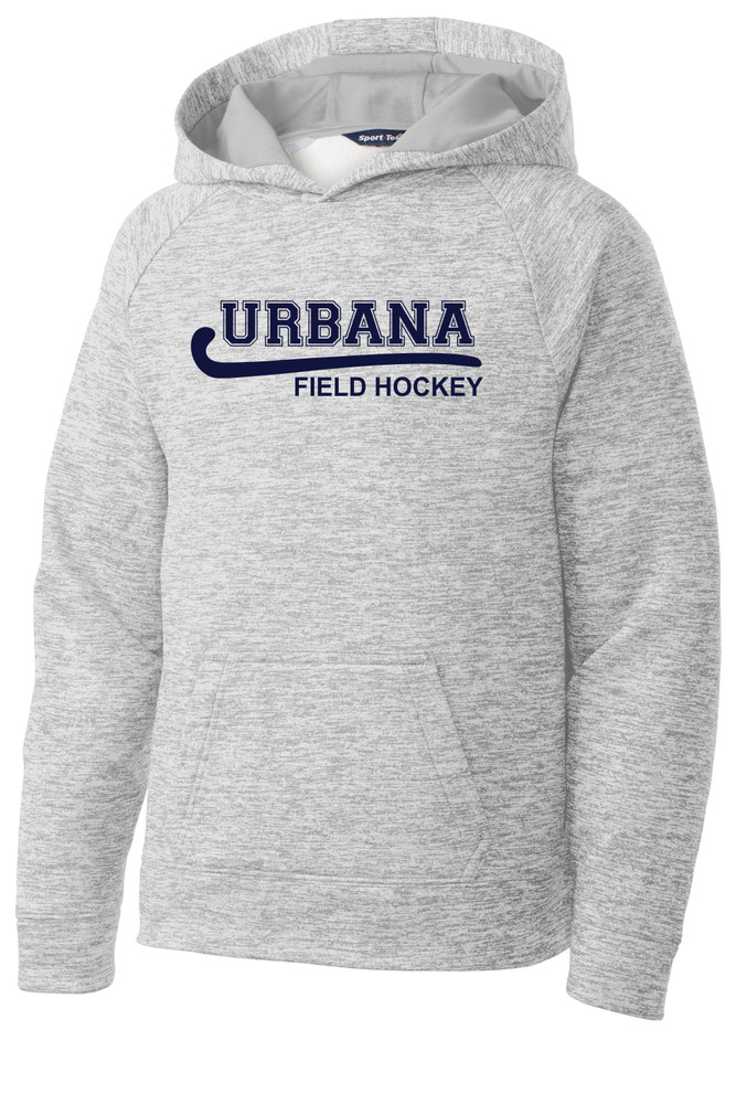 Urbana Hawks FIELD HOCKEY Hoodie Performance PosiCharge Electric Heather Fleece Pullover Sweatshirt Many Colors Available YOUTH Sizes S-XL SILVER ELECTRIC