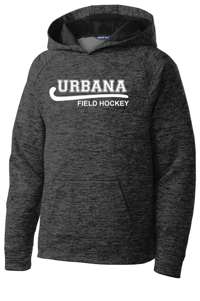 Urbana Hawks FIELD HOCKEY Hoodie Performance PosiCharge Electric Heather Fleece Pullover Sweatshirt Many Colors Available YOUTH Sizes S-XL  GREY/BLACK ELECTRIC