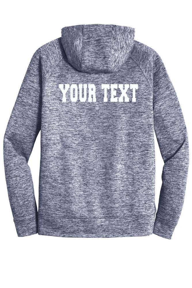 Urbana Hawks FIELD HOCKEY Hoodie Performance PosiCharge Electric Heather Fleece Pullover Sweatshirt Many Colors Available Sizes XS-4XL   TRUE NAVY ELECTRIC BACK PERSONALIZED