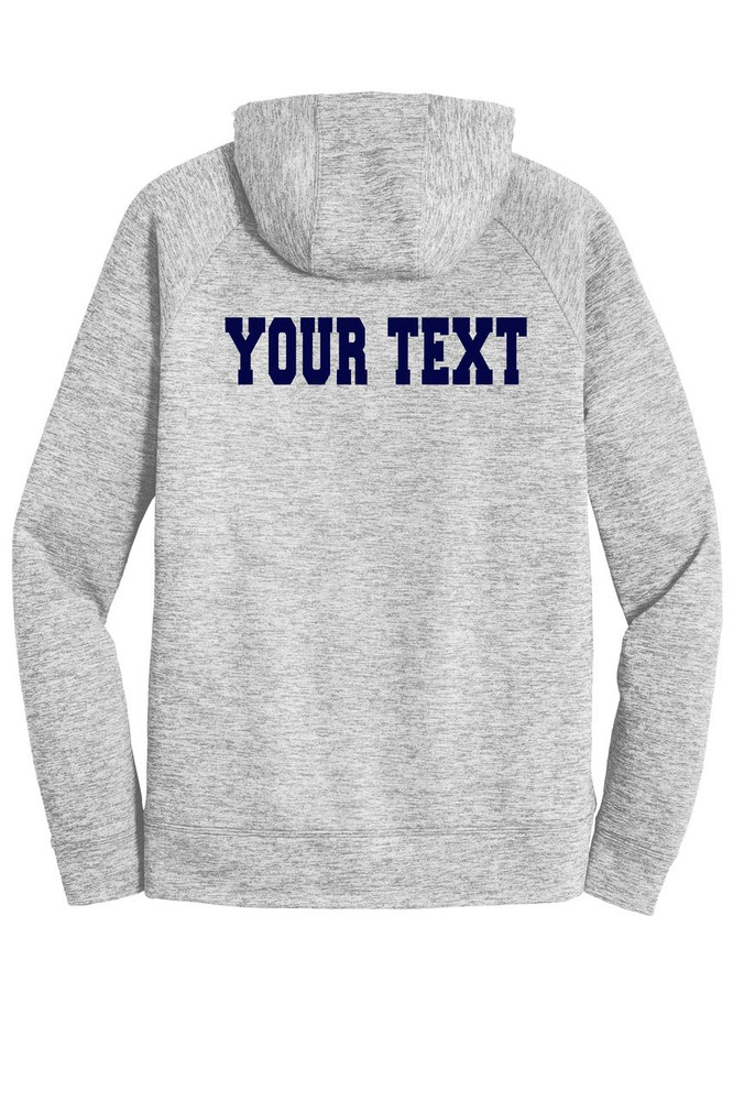 Urbana Hawks FIELD HOCKEY Hoodie Performance PosiCharge Electric Heather Fleece Pullover Sweatshirt Many Colors Available Sizes XS-4XL   SILVER ELECTRIC BACK PERSONALIZED